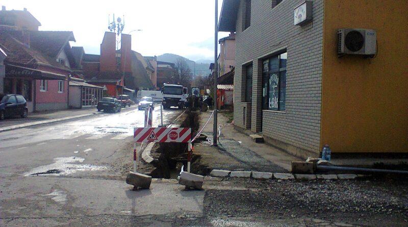 Радови у Улици Вука Караџића на замени водоводне мреже