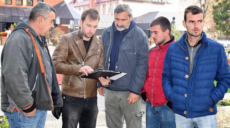 Разматрање пројекта на лицу места пред почетак радова