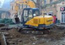 Реконструкција градског Трга - Ископ канала. Санација водоводне и канализационе мреже