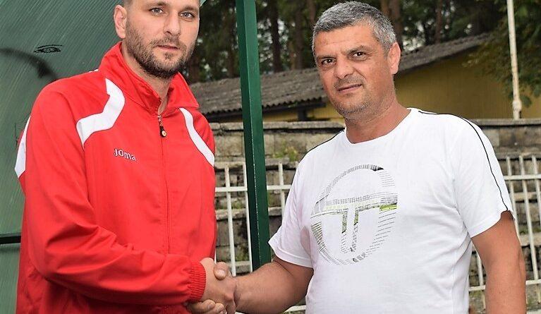 Досадашњи тренер Владислав Росић и председник клуба Предраг Живановић