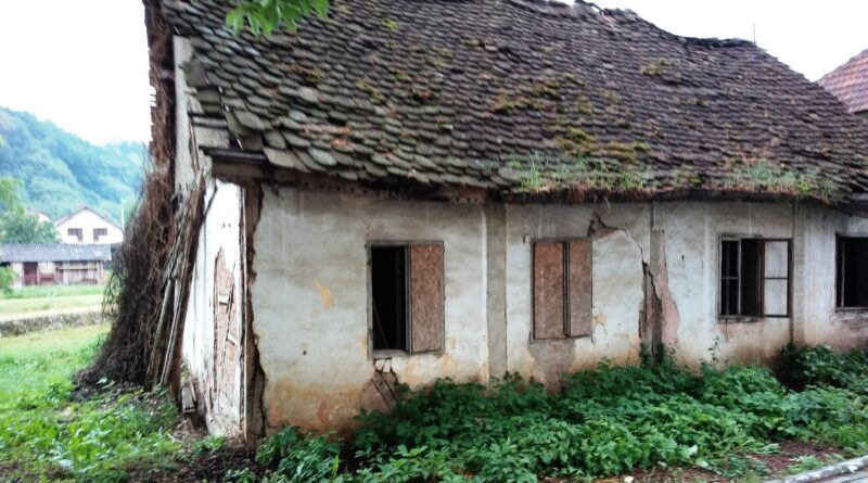 напуштена кућа у центру града