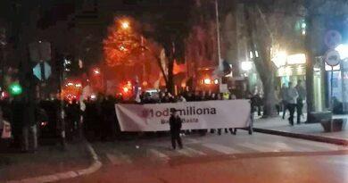Бајина Башта, протест један од пет милиона
