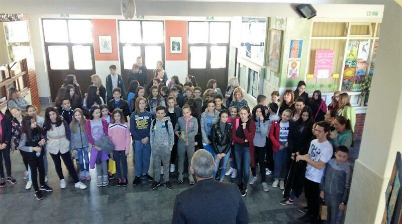Учесници општинског такмичења из српског језика