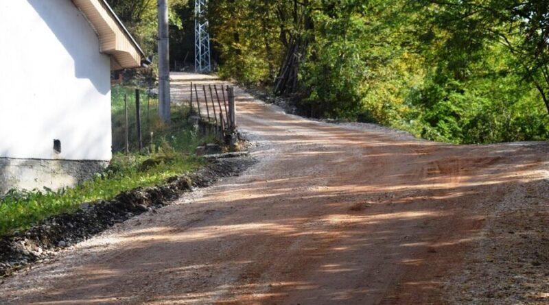 Podloga Зa asfaltiranje na putu za Pepelj