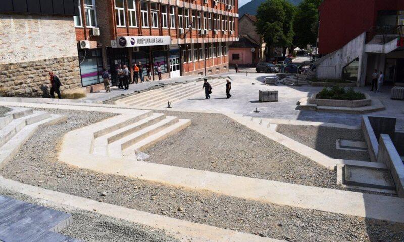Данашња слика са градилишта Трга